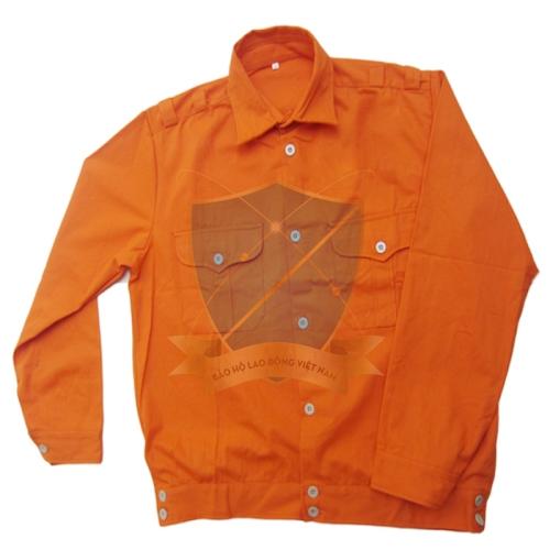 Áo bảo hộ kaki liên doanh Hà Quốc màu cam