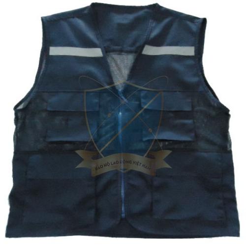 Áo gile phản quang túi hộp màu tím than