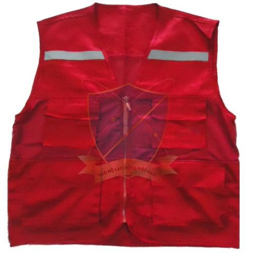 Áo gile phản quang túi hộp không lưới các màu