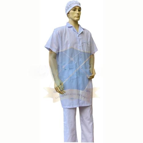 Bộ quần áo Blouse vải lon ngắn tay