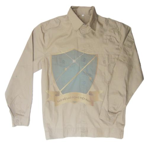Áo bảo hộ vải thô ghi dày