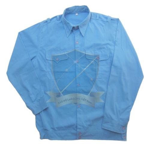 Áo bảo hộ vải si xanh Hòa Bình cotton