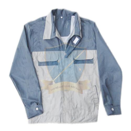 Áo Bảo Hộ kaki 7500 màu ghi + ghi chì (kiểu Nhật kéo khóa)
