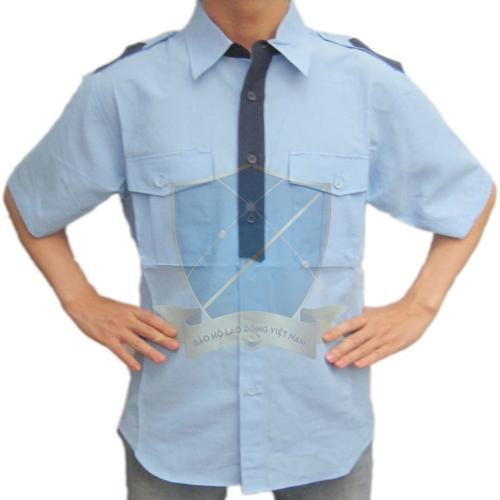 Áo bảo hộ kaki + Thô pha + sẹc dày các màu kiểu sơ mi