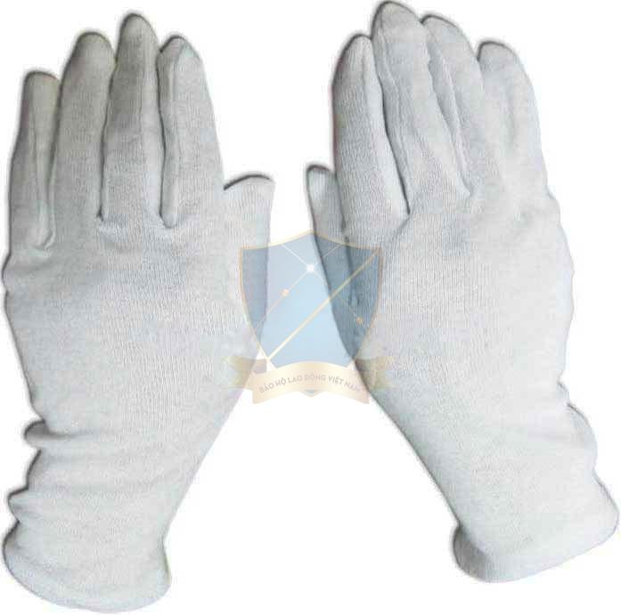 Găng dệt kim trắng, màu cotton