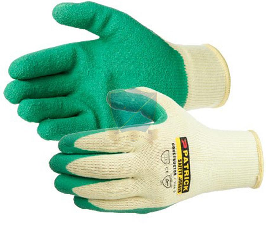 Găng sợi tráng nhựa Mỹ màu xanh chống trơn,chống hóa chất,chống cắt