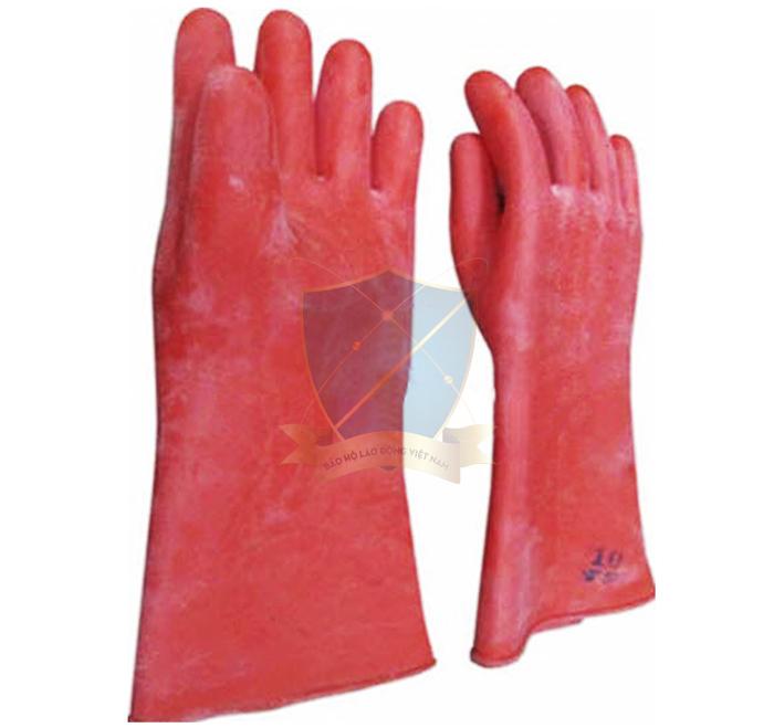 Găng cao su chống acid 3 ly đỏ Sài Gòn ngắn