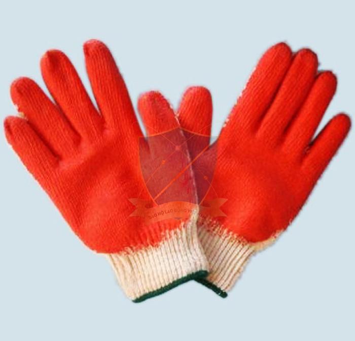 Găng sợi tráng sơn đỏ chống trơn