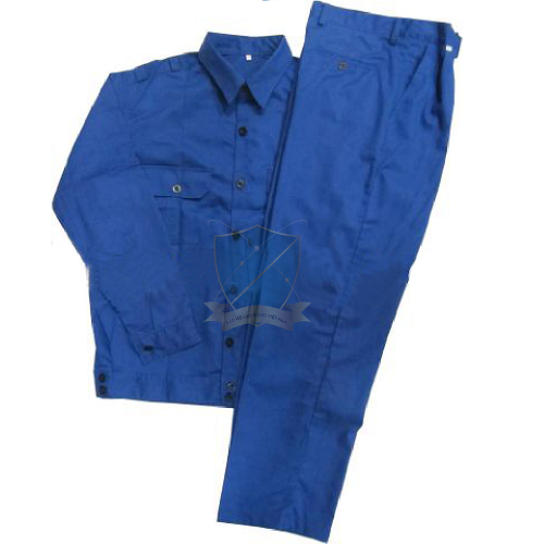 Quần áo bảo hộ vải chéo xanh công nhân giá rẻ