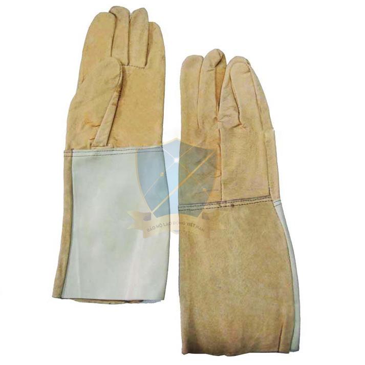 Găng tay da dài-da cật VN