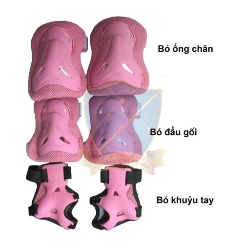 Bảo vệc chân tay kết hợp Trung Quốc màu hồng