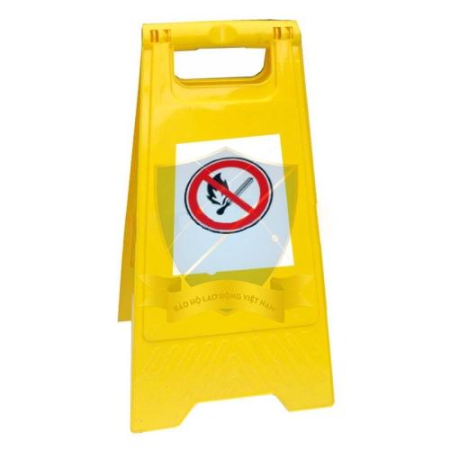 Biển cảnh báo nhựa vàng chữ A