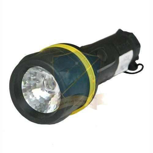 Đèn pin vỏ cao su Trung Quốc màu đen