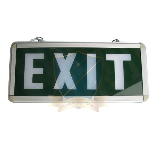 Đèn thoát hiểm EXIT hình chữ nhật màu xanh lá Trung Quốc