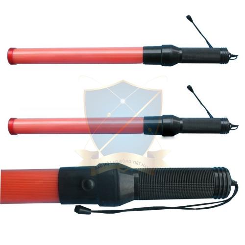Gậy chỉ huy gắn đèn 50cm đen+đỏ Trung Quốc