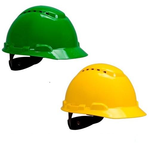 Mũ bảo hộ lao động 3m vàng xanh