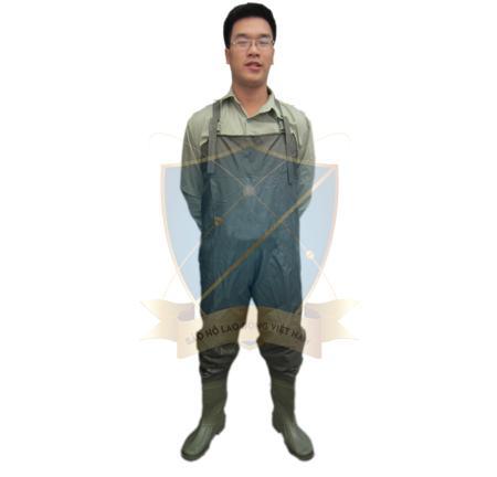 Bộ quần áo lội nước cao su Việt Nam