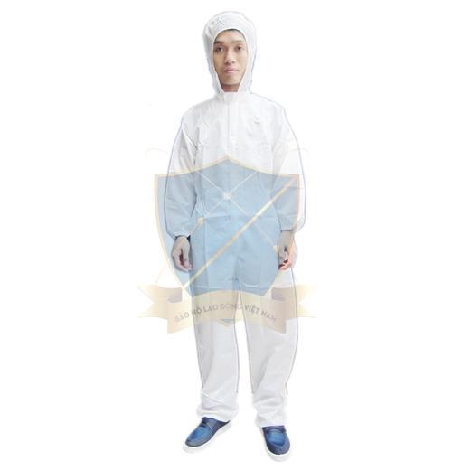 Quần áo chống tĩnh điện liền mũ dạng bộ – Việt Nam