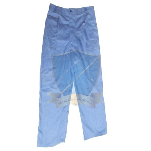 Quần bảo hộ vải chéo xanh