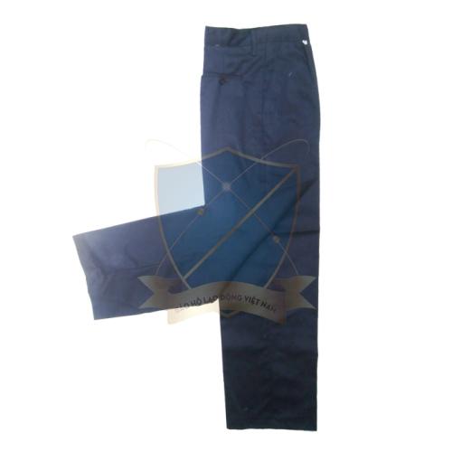 Quần âu bảo hộ vải casimer tím than