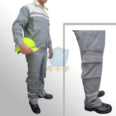 Quần áo bảo hộ  pha màu ghi vải Pangzim Hàn Quốc 2721