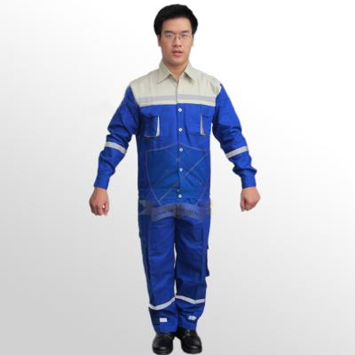 Quần áo bảo hộ lao động pha màu vải bạt dày chống cháy