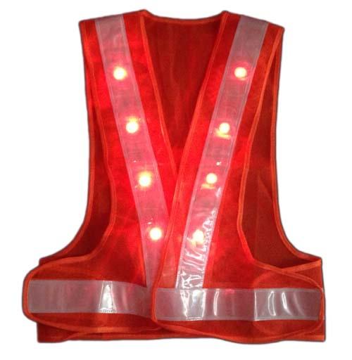Áo phản quang chữ A có đèn LED màu cam