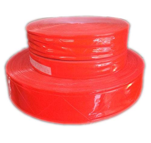 Dây nhựa phản quang bản 5cm màu đỏ cam