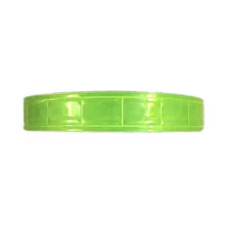 Dây phản quang nhựa bản 2.5cm màu vàng chanh