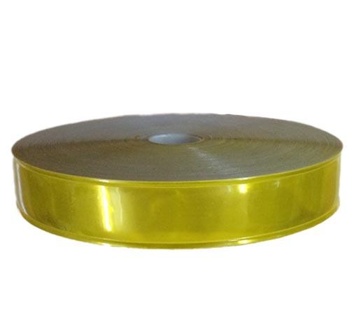 Dây phản quang nhựa bản 2.5cm màu vàng