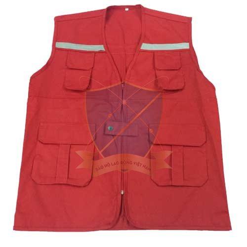 Áo gile phản quang không lưới kiểu túi nhỏ