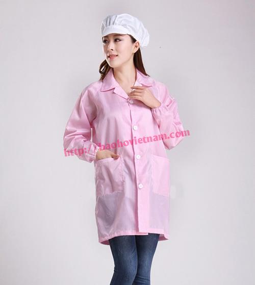 Quần áo chống tĩnh điện phòng sạch màu hồng K-01