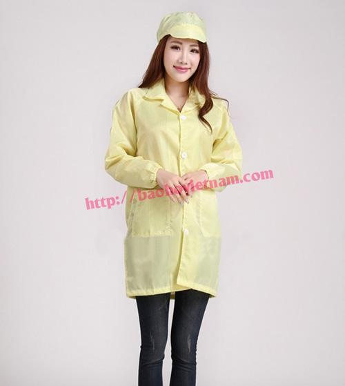 Quần áo chống tĩnh điện phòng sạch màu vàng K-01