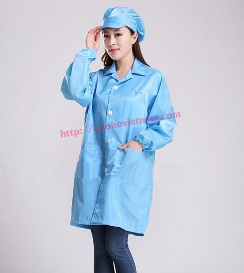 Quần áo chống tĩnh điện phòng sạch màu xanh K-01