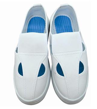 Giày phòng sạch chống tĩnh điện 4 lỗ màu trắng