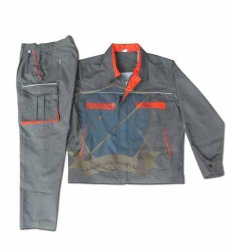 Quần áo bảo hộ vải bạt dầy pha mầu