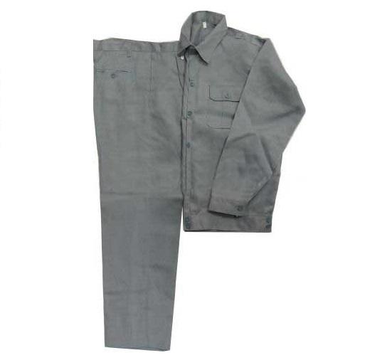 Quần áo bảo hộ vải kaki 100% cotton dày mầu ghi chì