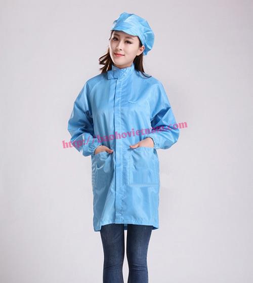 Quần áo chống tĩnh điện phòng sạch màu xanh K-02