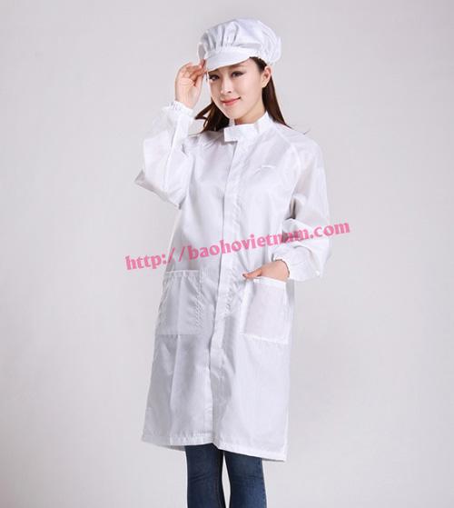Quần áo chống tĩnh điện phòng sạch màu trắng K-02