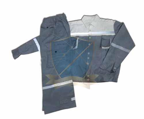 Quần áo thợ hàn vải bạt 100% cotton phản quang