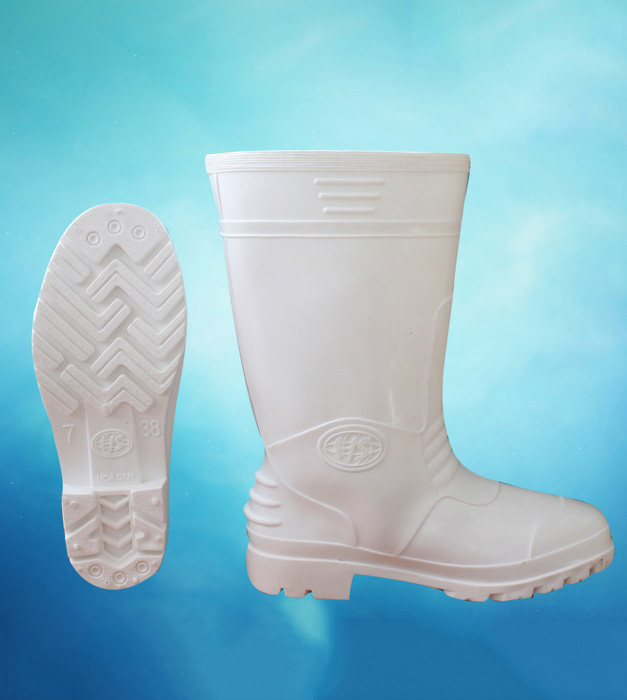 Ủng nam nhựa cao su màu trắng chất lượng cao HS-01