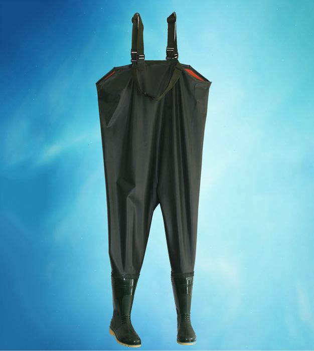 Ủng cao su dạng quần áo màu xanh HS-01