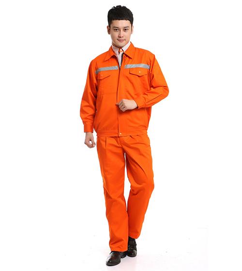 Quần áo bảo hộ mùa đông màu cam có phản quang (Hàng đặt may)