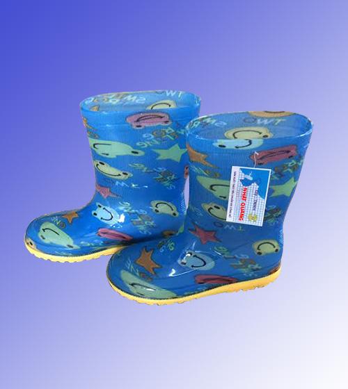 Ủng trẻ em màu xanh dương hình chú ếch