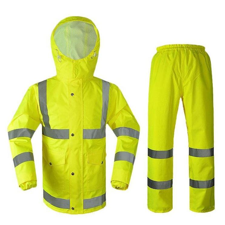 Bộ quần áo mưa phát quang cảnh sát giao thông