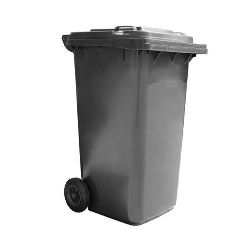 Thùng rác nhựa 240L màu ghi Nhật Quang