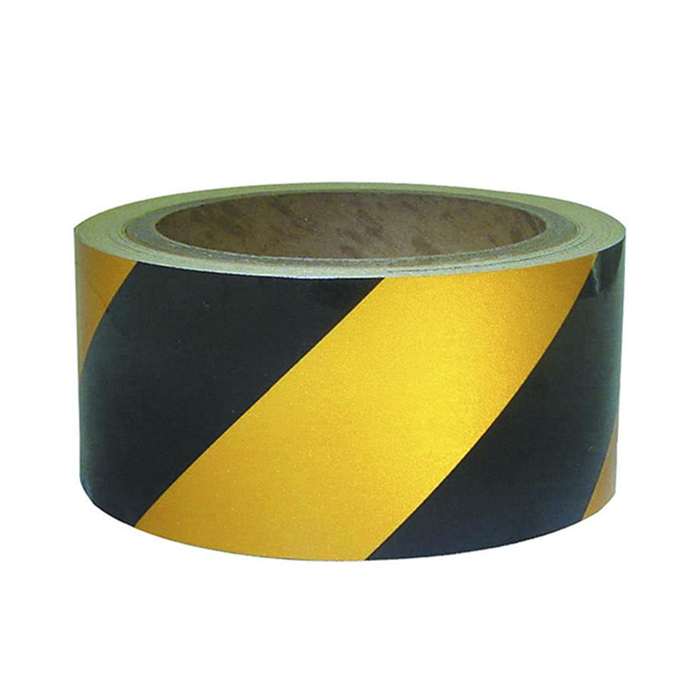 Đề can phản quang vàng đen 5cm