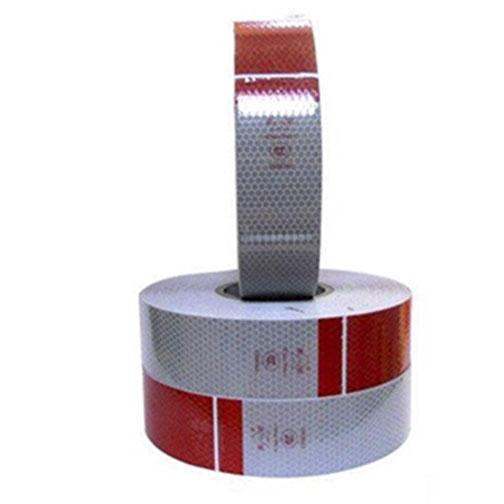 Đề can phản quang đỏ trắng 5cm