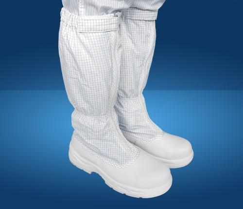 Giày phòng sạch chống tĩnh điện mũi sắt, đế sắt cao cổ