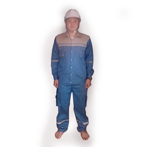 Quần áo bảo hộ lao động pangrim Hàn Quốc 2721 pha màu xanh pha nâu đất